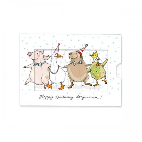 Postal Cumpleaños - Fiesta de Animales
