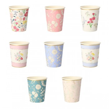 English Garden Party Cups (8u)