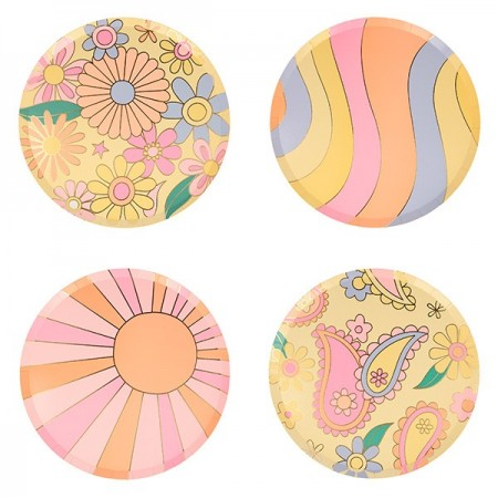 Psychedelic 60s Side Plates (8u)