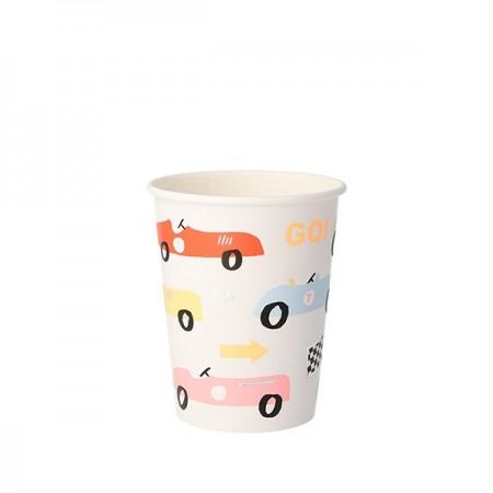 Race Car Party Cups (8u)