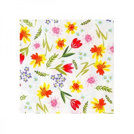 Hop Over The Rainbow Floral Napkins - 20u.