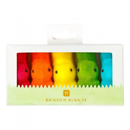 Five Rainbow bunnies