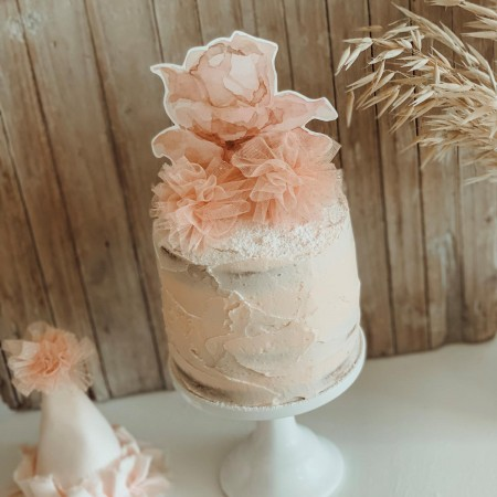 Top cake rosa (3u)