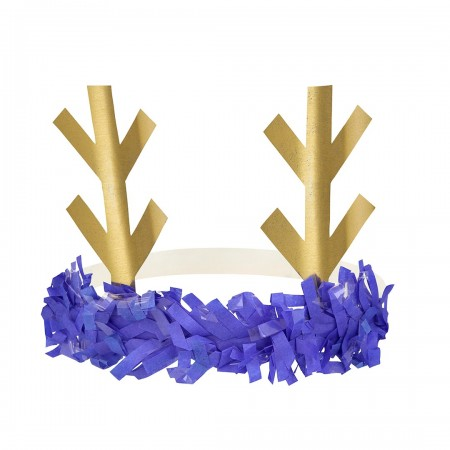 Reindeer Fringe Antler Headbands (Pack 8u)