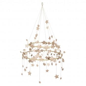 Gold Sparkle Star Chandelier