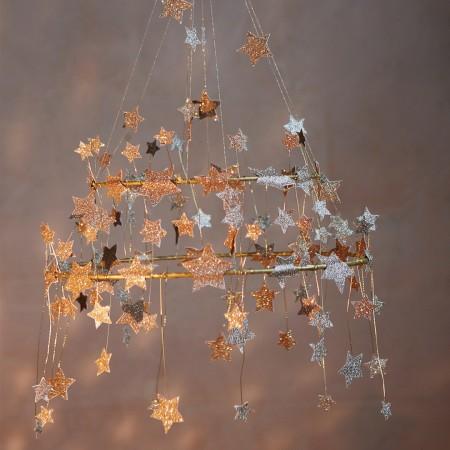 Corona de techo Dorada - Gold Sparkle Star