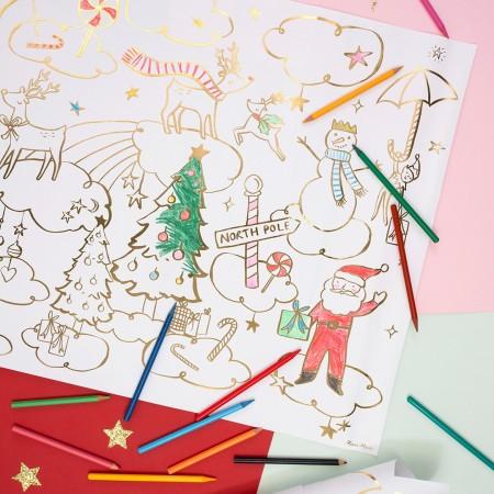 Posters para colorear - Navidad (2u.)