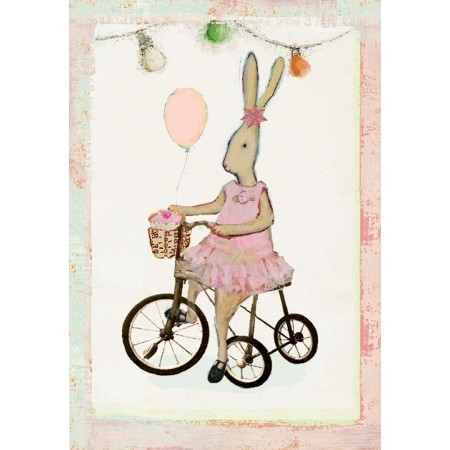 Girl Bunny card