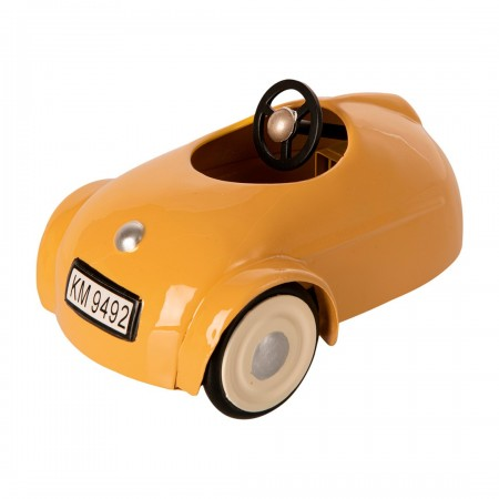 Mouse car w. garage - Yellow
