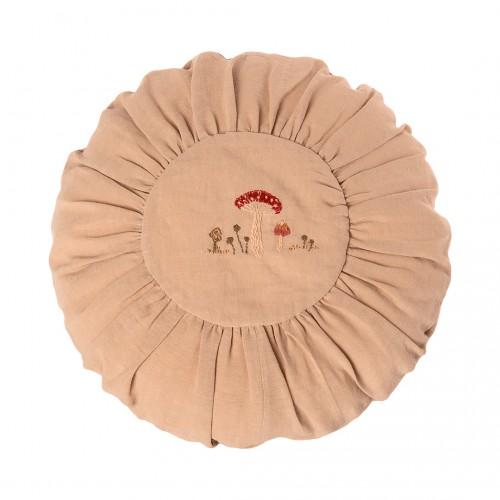 Cojín Redondo 40cm - Arena con bordado