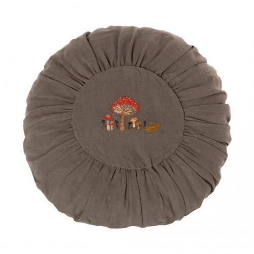 Round Cushion 40 cm - Green Mushrooms