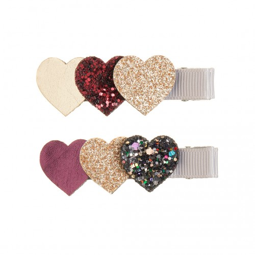 Heart Burst Clips Red (2u.)