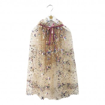 Sequins Embroidery Fairy Cape