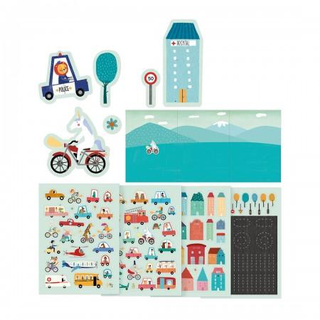 Mi ciudad Stickers - 150 pegatinas