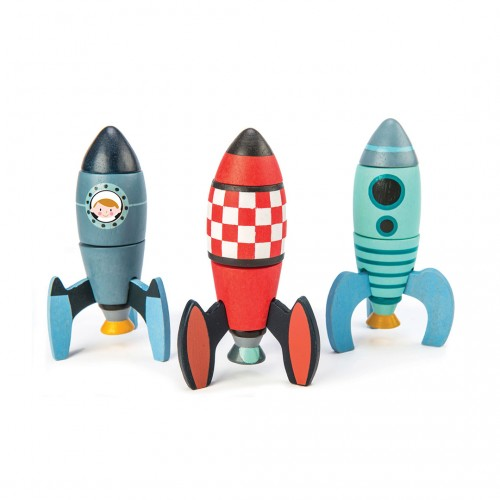 Cohetes. Juego de construcción.