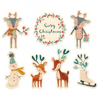 Cosy Christmas Gift Tags - 14 pcs