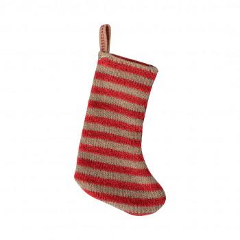Christmas Stocking - Red/Sand