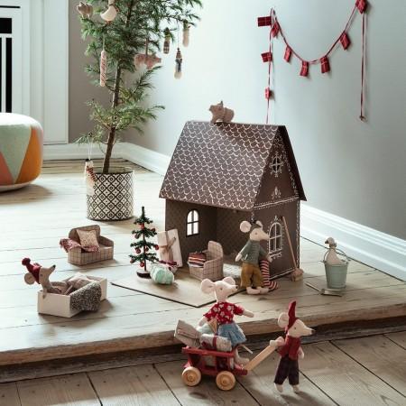Christmas Stocking - Petrol/Sand