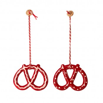 Metal  Ornament Pretzel