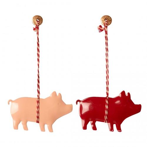 Metal Ornament Pig