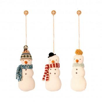 Muñeco de Nieve decoración tela