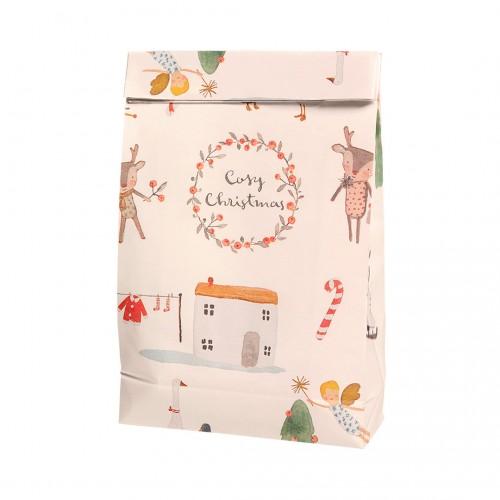 Gift Bag Cosy Christmas - Off White