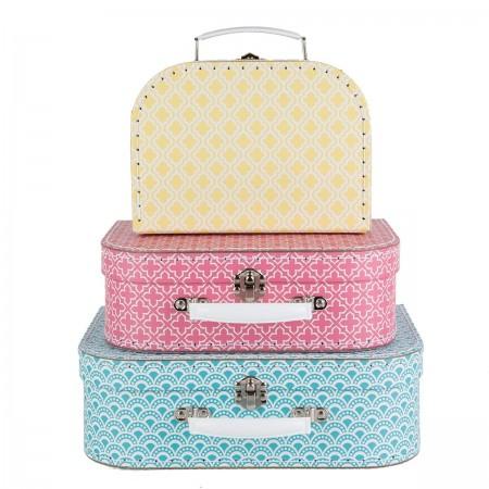 Geometrics suitcases - Set of 3 pcs