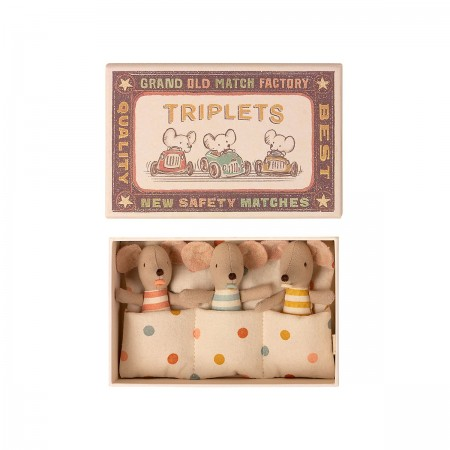 Mice Triplets in Matchbox - Baby
