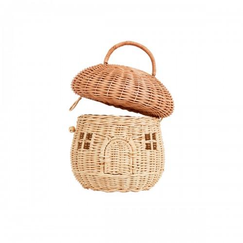 Rattan Mushroom Basket - Natural