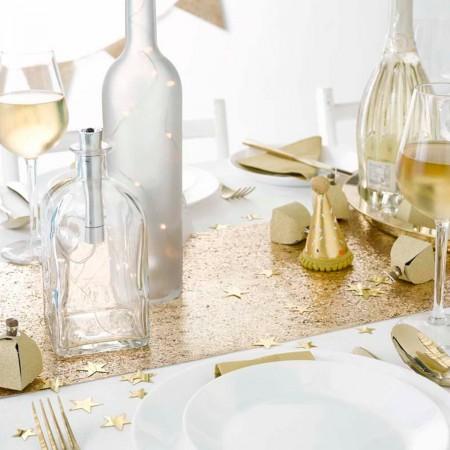 Luxe Gold Glitter Table Runner