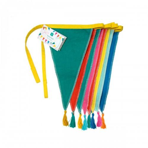 Rainbow Fabric Bunting Garland - 3m