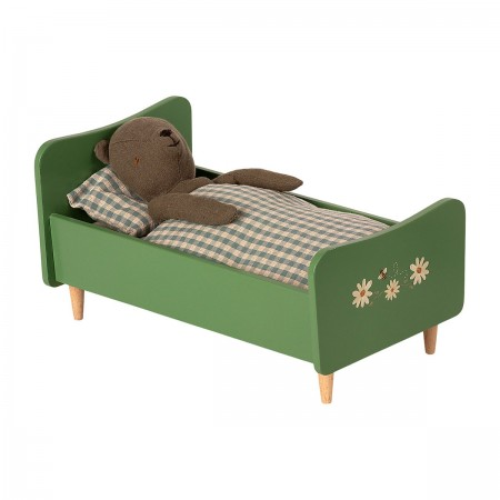 Wooden Bed Teddy Dad - Dusty Green