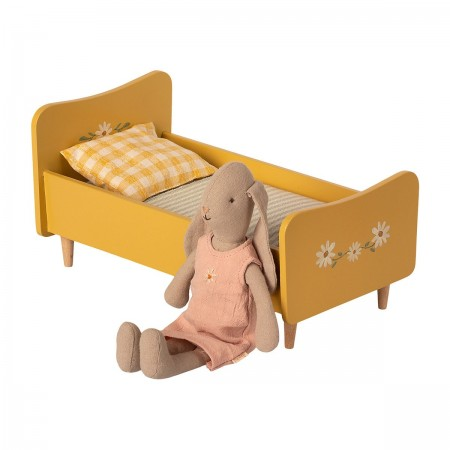 Wooden Bed Mini - Yellow