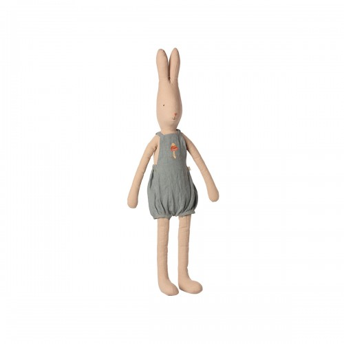 Rabbit in Dusty Blue Overall - S5