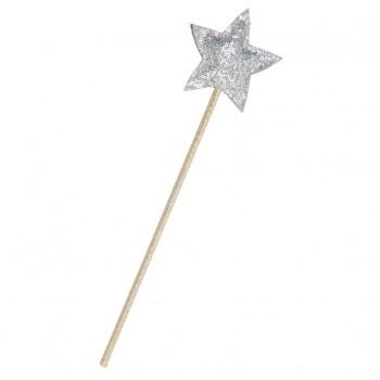 Varita de estrella con lentejuelas - Plata