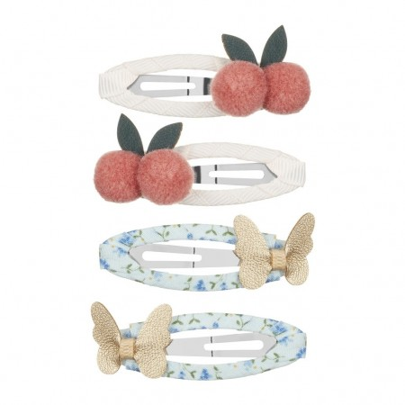 Cherries and butterflies Clips (4u.)