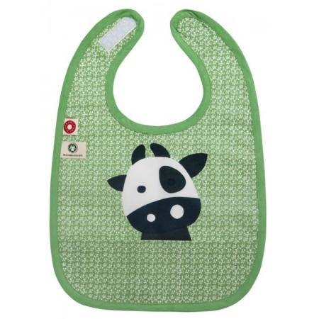 Cow Green Bib
