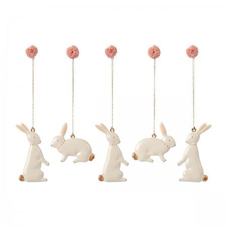 Easter Bunny Ornaments (5u.)