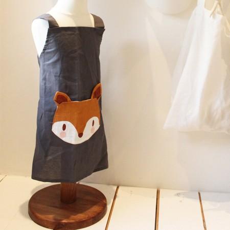 Fox Linen Apron