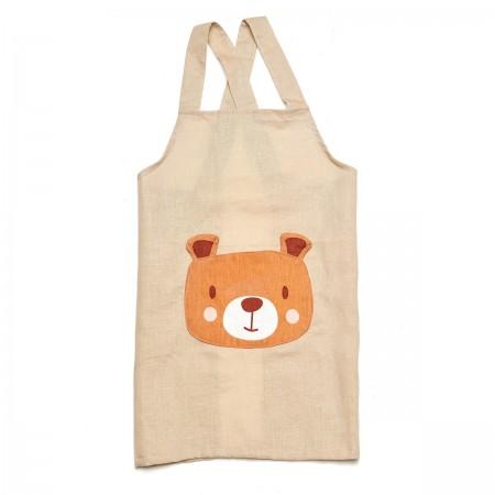 Bear Linen Apron