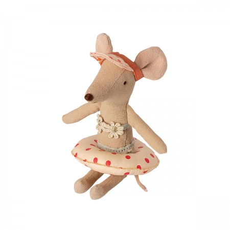 Small Mouse Float - Red Dots