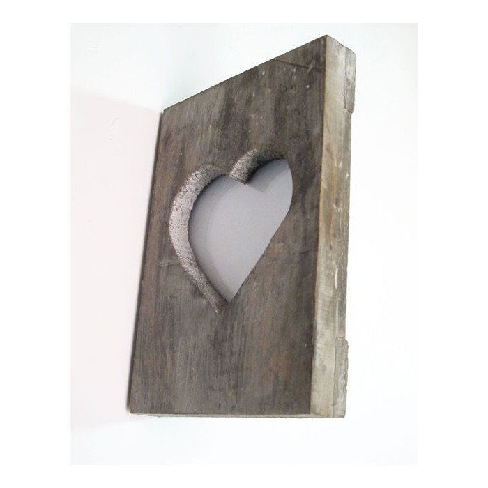 Wooden Heart Frame In Blaubloom