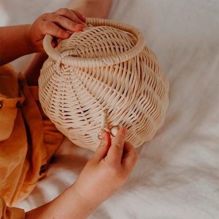 Rattan Egg Basket - Natural