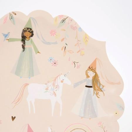 Platos de Princesas Grandes - 8u.