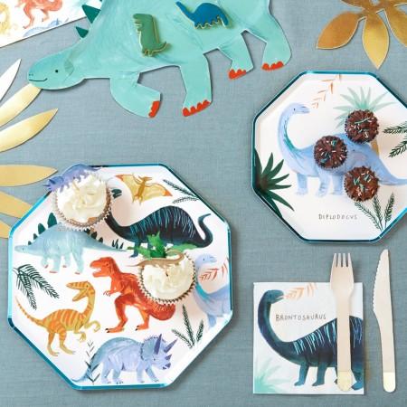 Dinosaur Kingdom Dinner Plates - 8u.