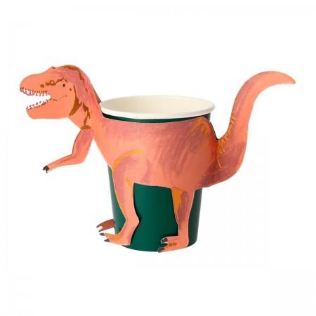 Dinosaurio T-Rex Vasos - 8u.