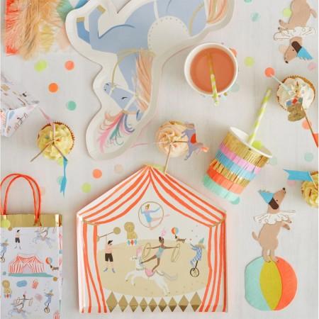 Servilletas Circo con Flecos Grandes - 20u.