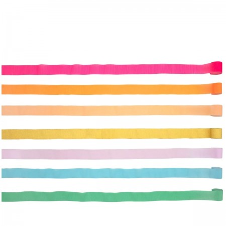 Bright Crepe Paper Streamers - 7u.