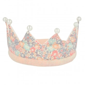 Floral & Pearl Party Crown