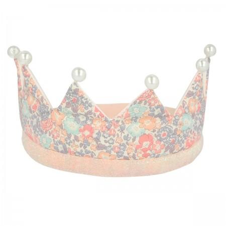 Corona Floral con Perlas